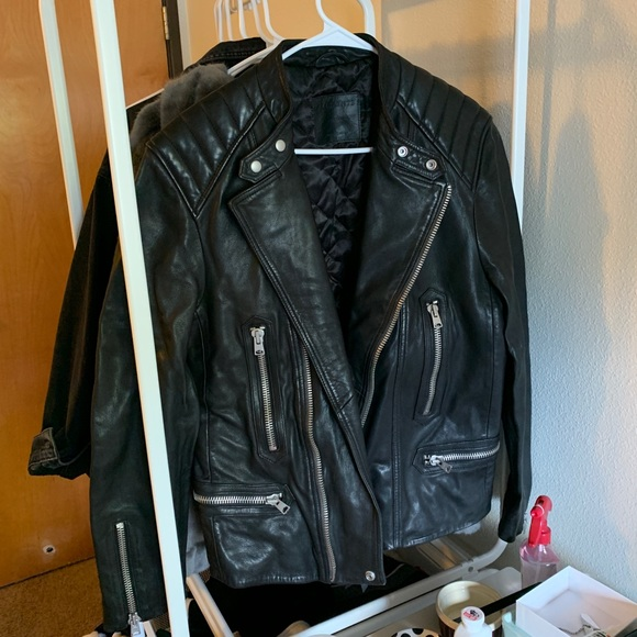 All Saints Other - AllSaints Leather Biker Jacket - Men